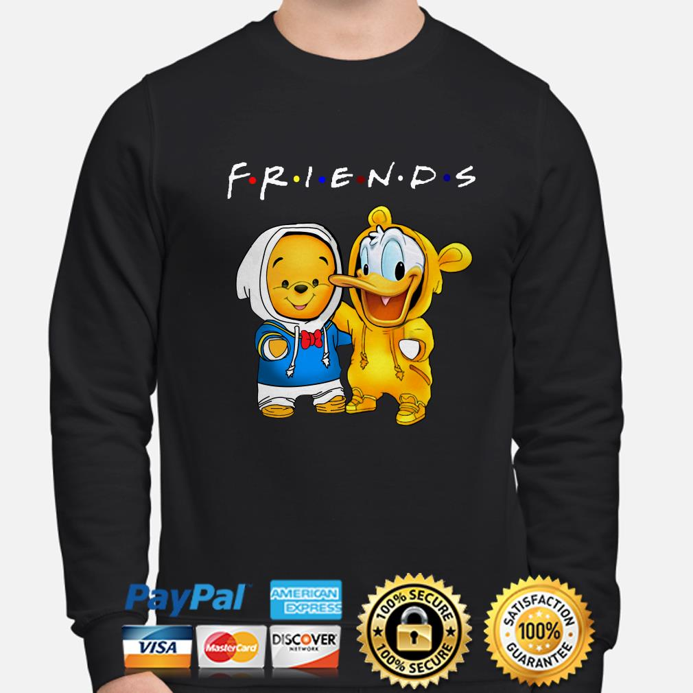 Baby Winnie Pooh and Donald duck Friends sweater