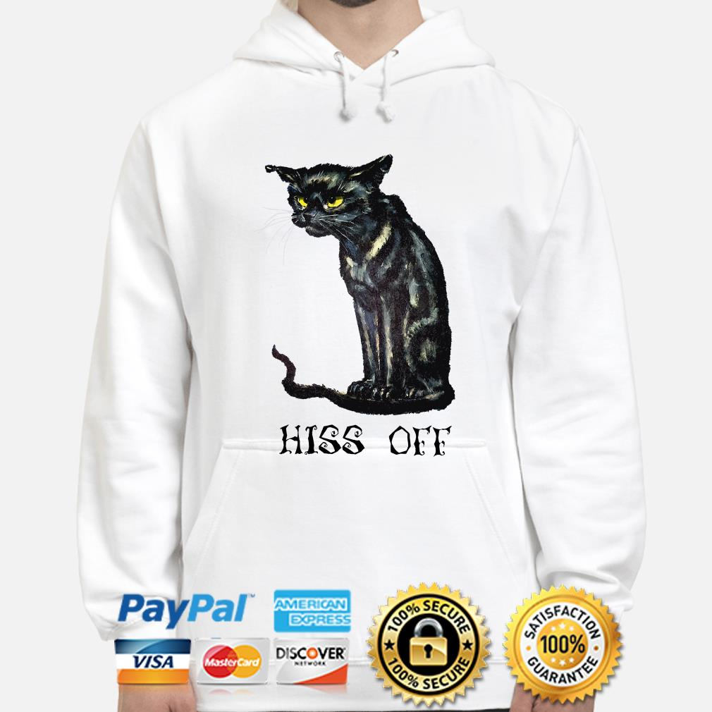 Black cat Hiss off Halloween hoodie
