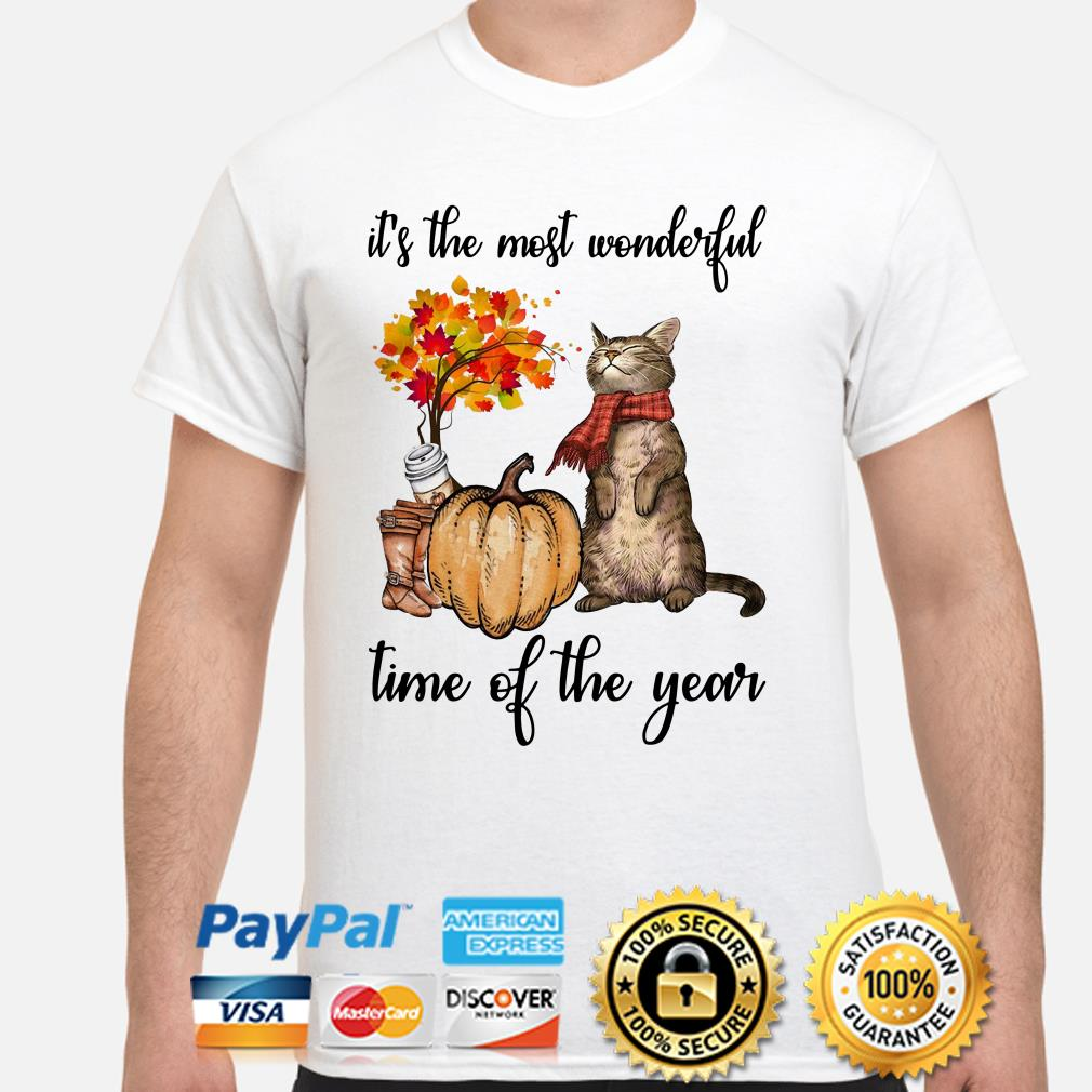 Cat Autumn it's the most wonderful time of the year shirt