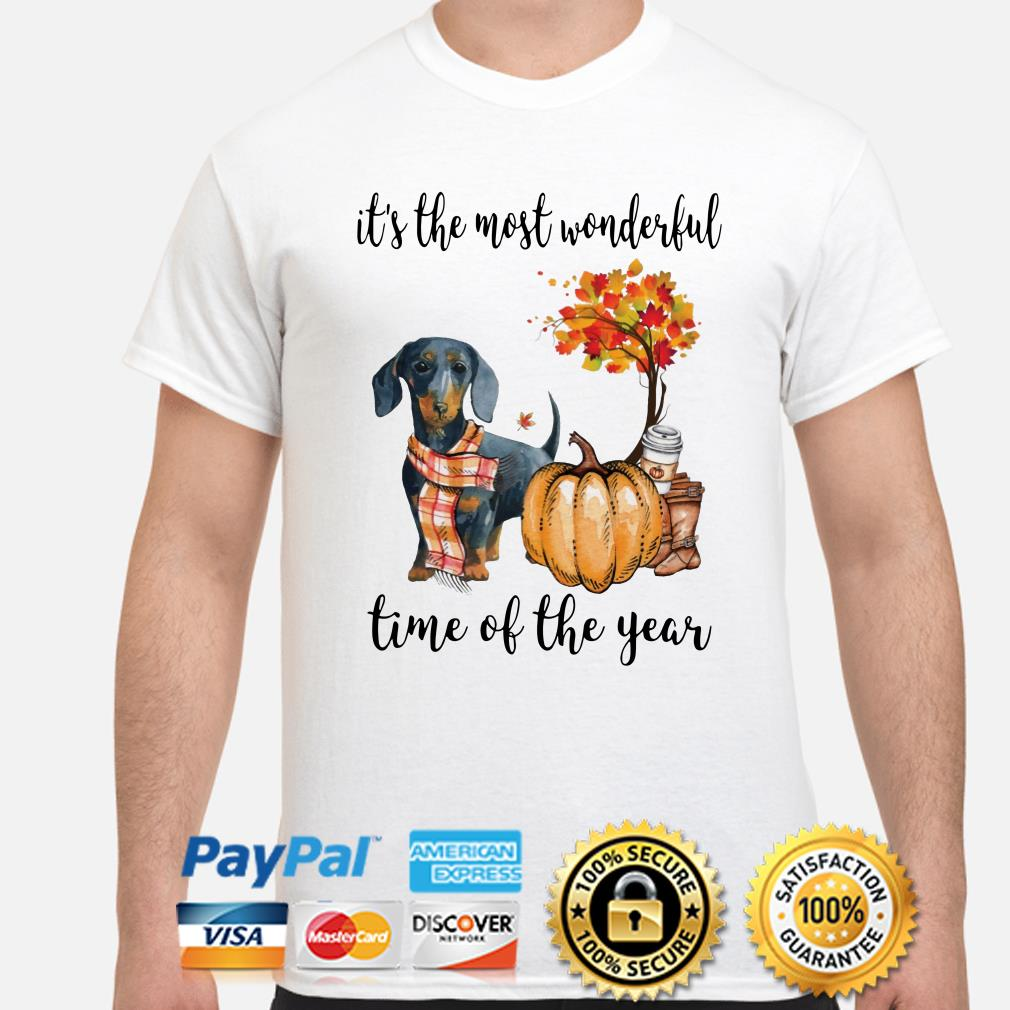 Dachshund fall it's the most wonderful time of the year shirt