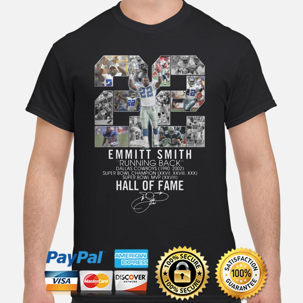 Dallas Cowboys Emmitt Smith Running back Hall Of fame shirt