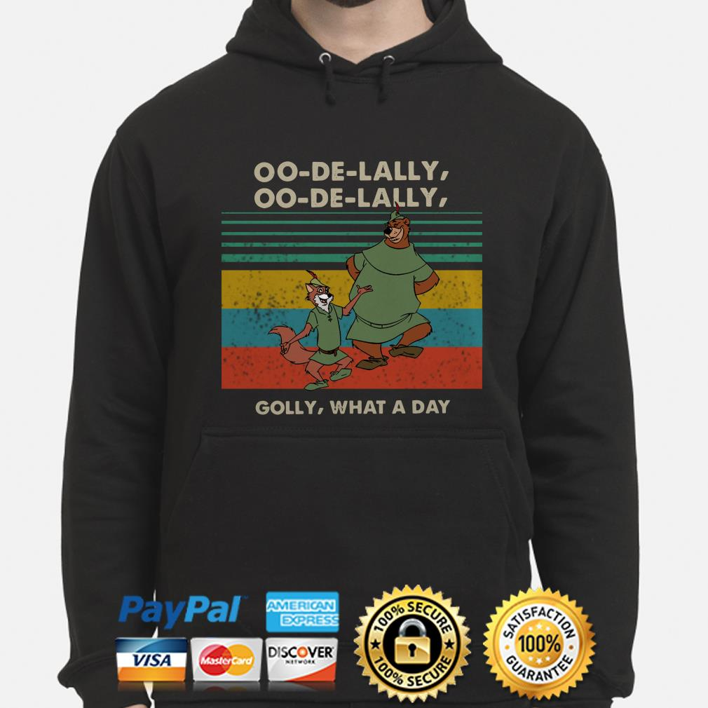 Disney Robin Hood and Little John oo de lally golly what a day vintage hoodie
