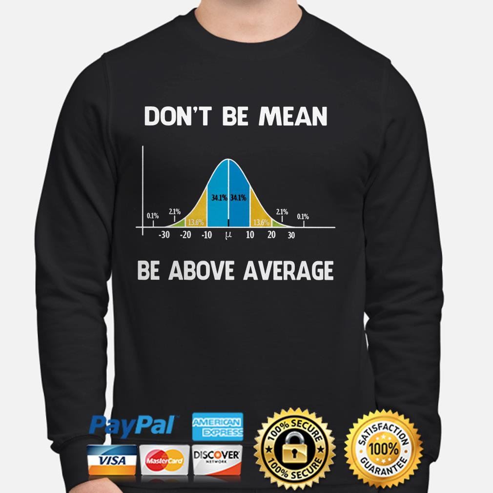 Don't be mean be above average sweater