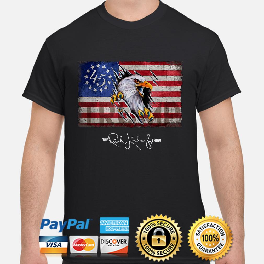 Eagle Betsy Ross flag 45 Trump shirt