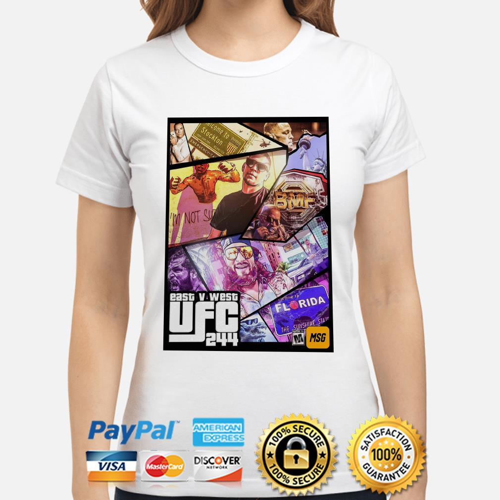 East And West UFC 244 Florida Nate Diaz ladies shirt