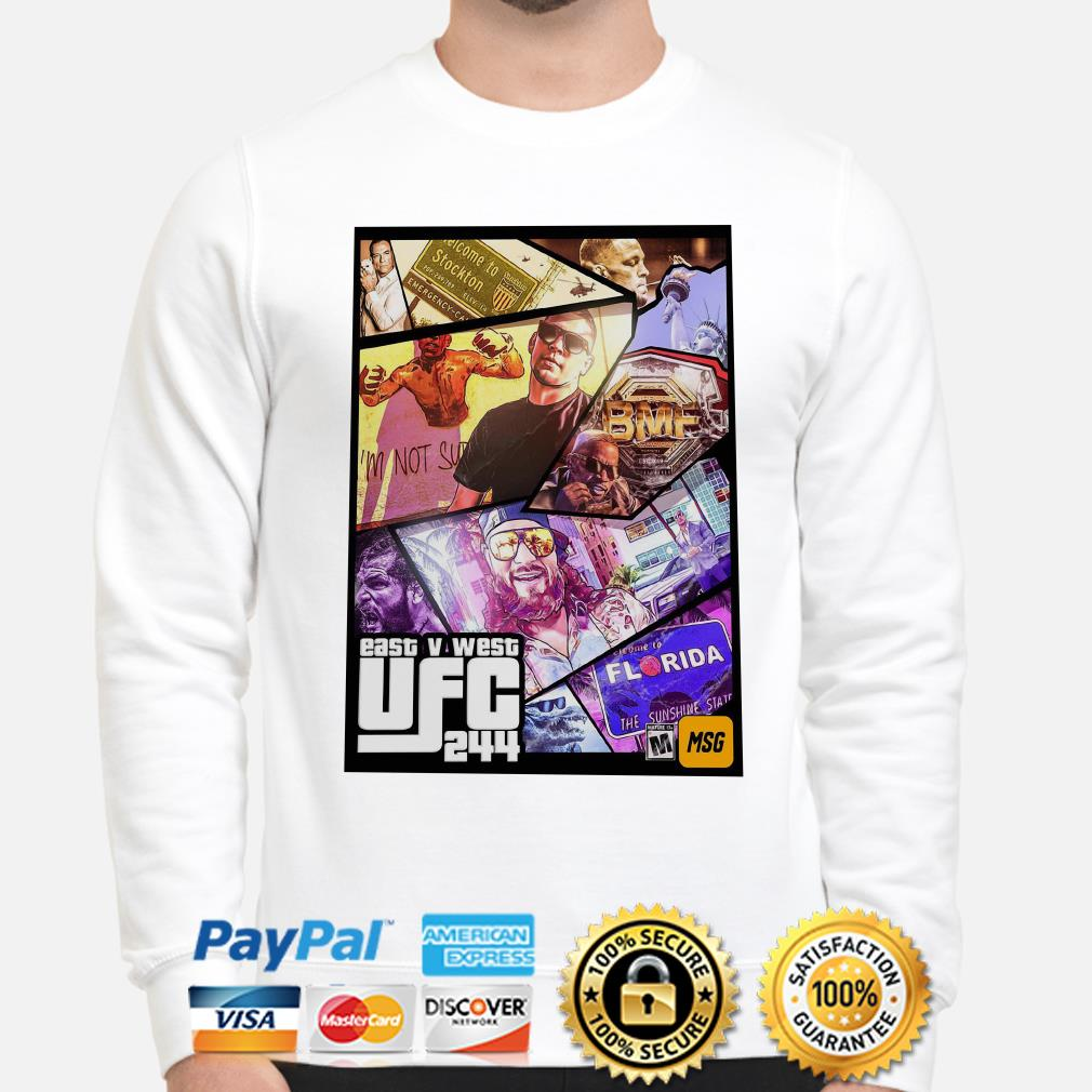 East And West UFC 244 Florida Nate Diaz sweater