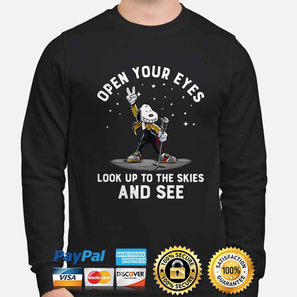 Freddie Mercury Snoopy open your eyes look up to the skies and see sweater
