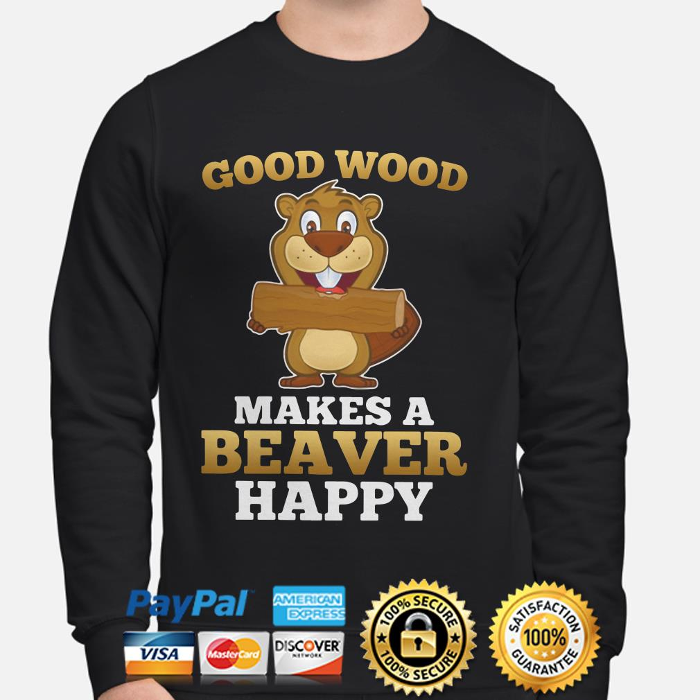 Good wood makes a Beaver happy sweater