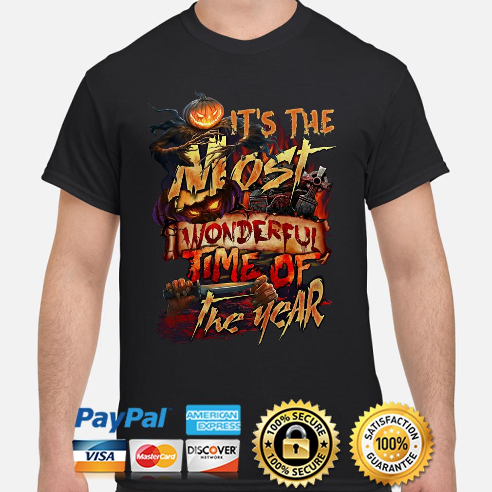 Halloween it's the most wonderful time of the years shirt