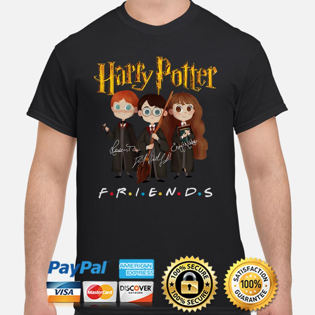 Harry Potter characters Friends signature shirt