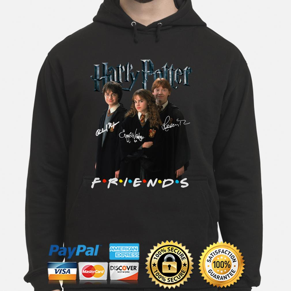 Harry Potter characters signature Friends hoodie