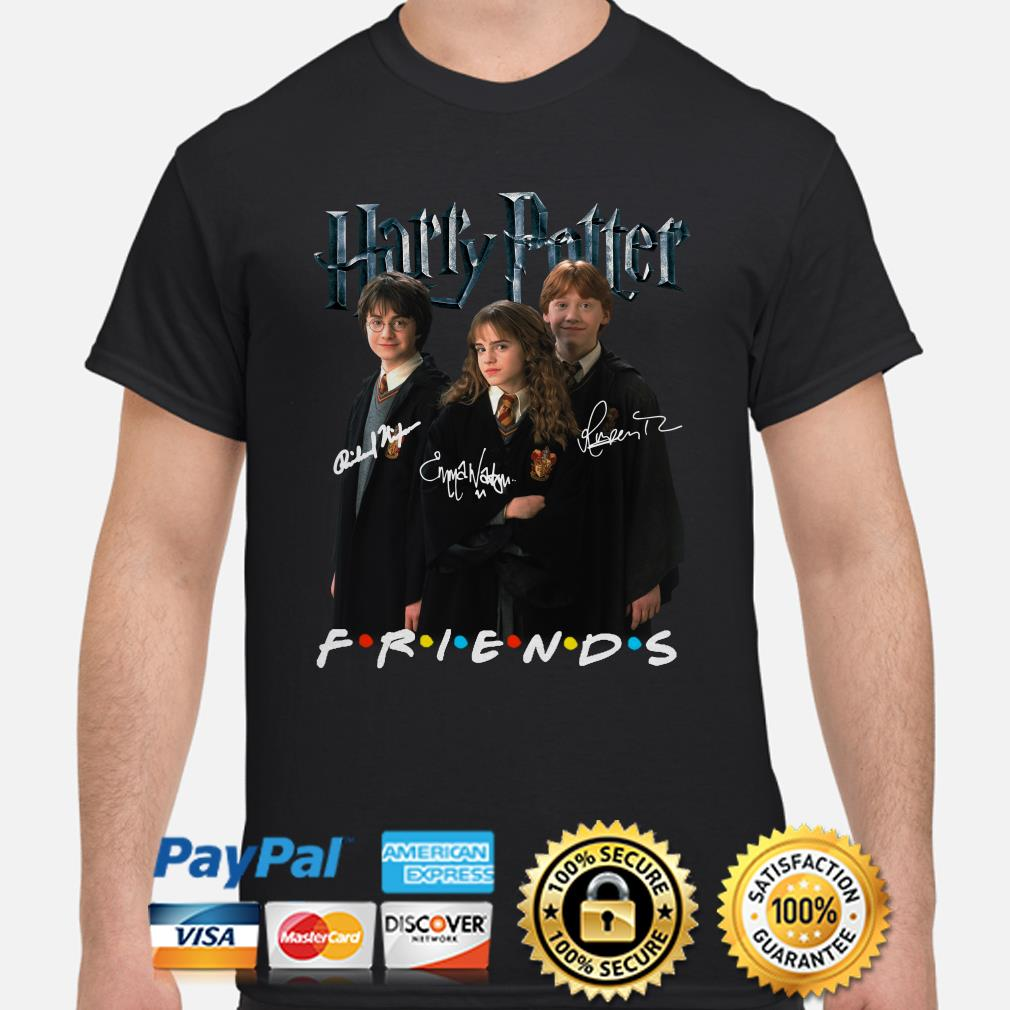 Harry Potter characters signature Friends shirt