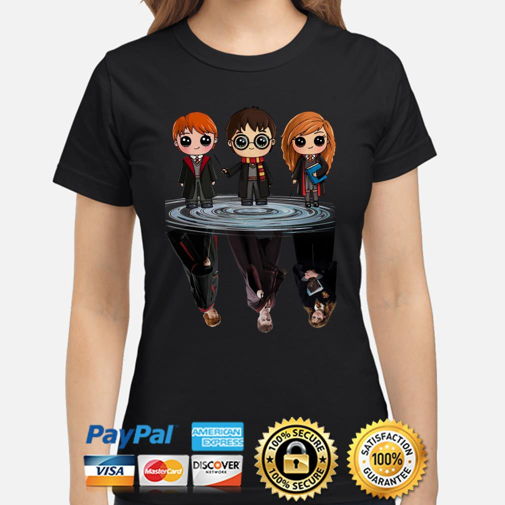 Harry Potter Characters water reflection ladies shirt