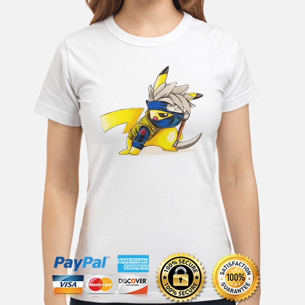 Hatake Kakashi Pikachu ladies shirt