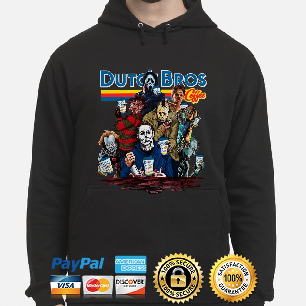 Horror characters Dutch Bros Coffee hoodie
