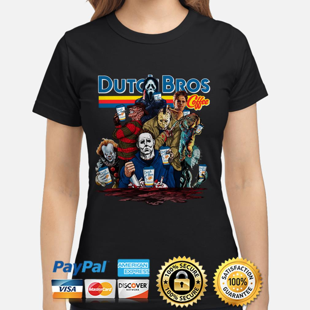 Horror characters Dutch Bros Coffee ladies shirt