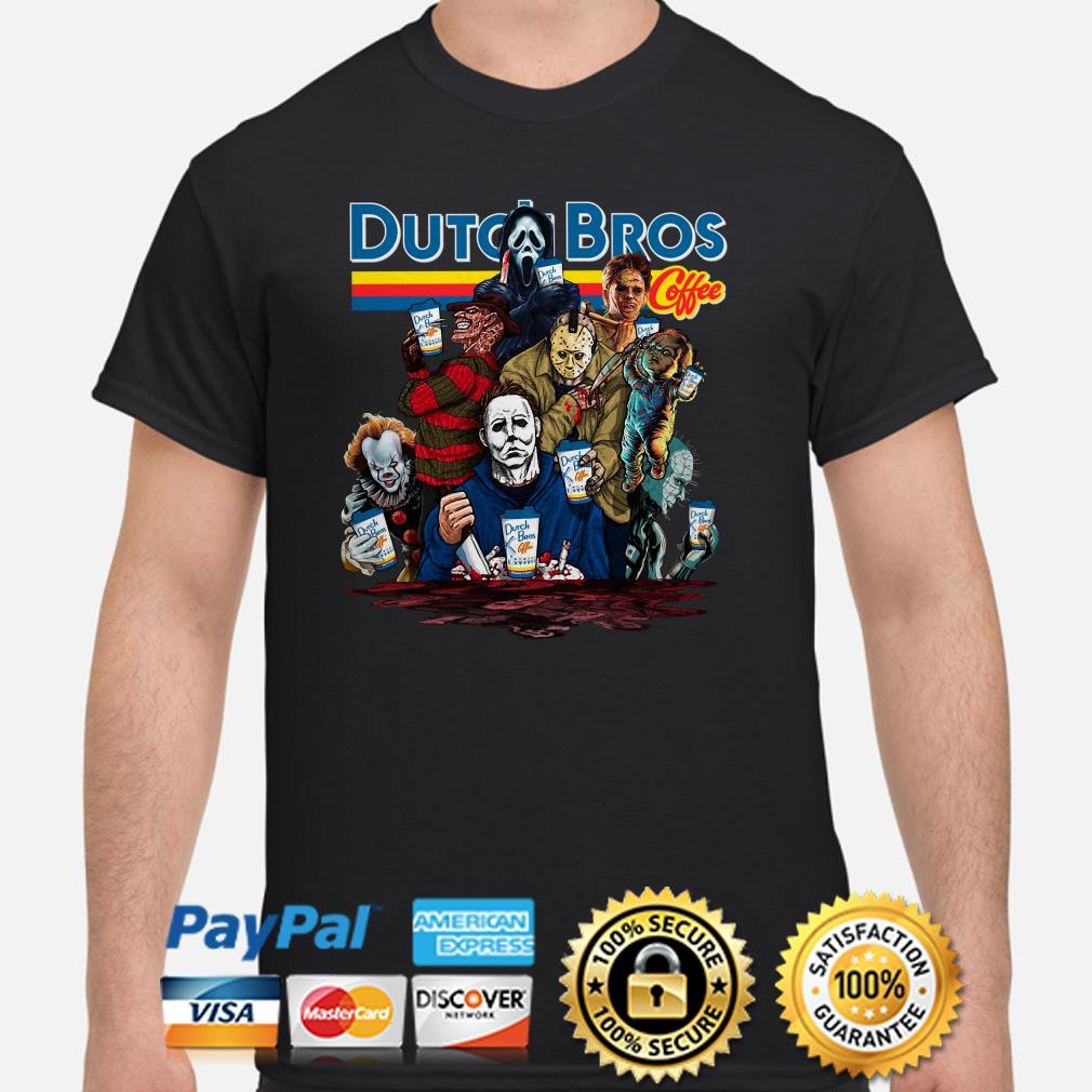 Horror characters Dutch Bros Coffee shirt