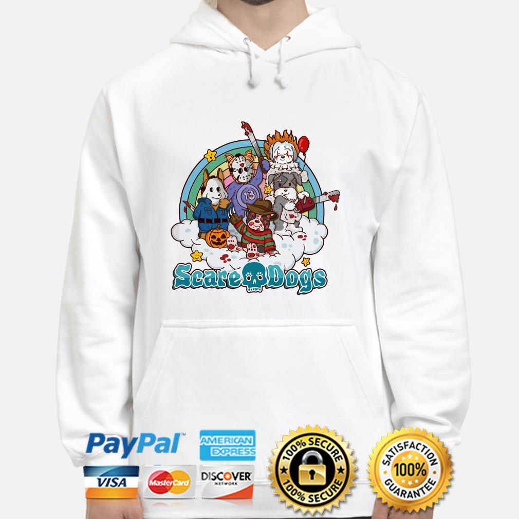 Horror characters scare dogs hoodie