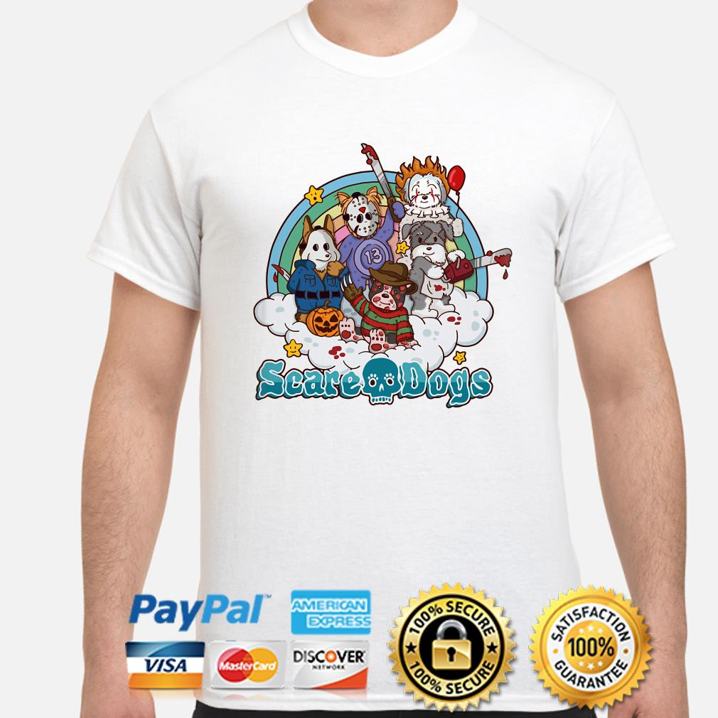 Horror characters scare dogs shirt