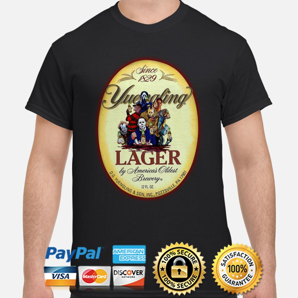 Horror characters Yuengling Lager by America's oldest brewery shirt