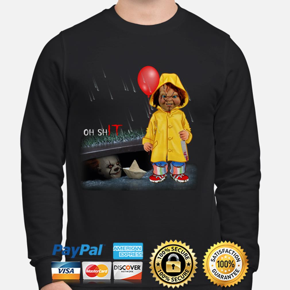 IT Pennywise and Chucky Oh shit sweater