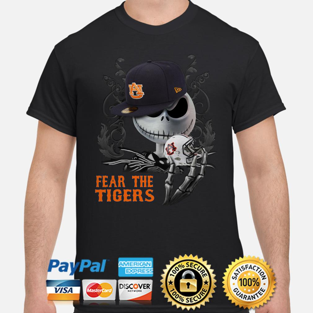 Jack Skellington Fear the Auburn Tigers shirt