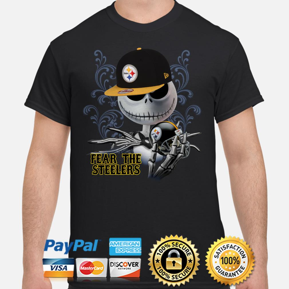 Jack Skellington fear the Pittsburgh Steelers shirt