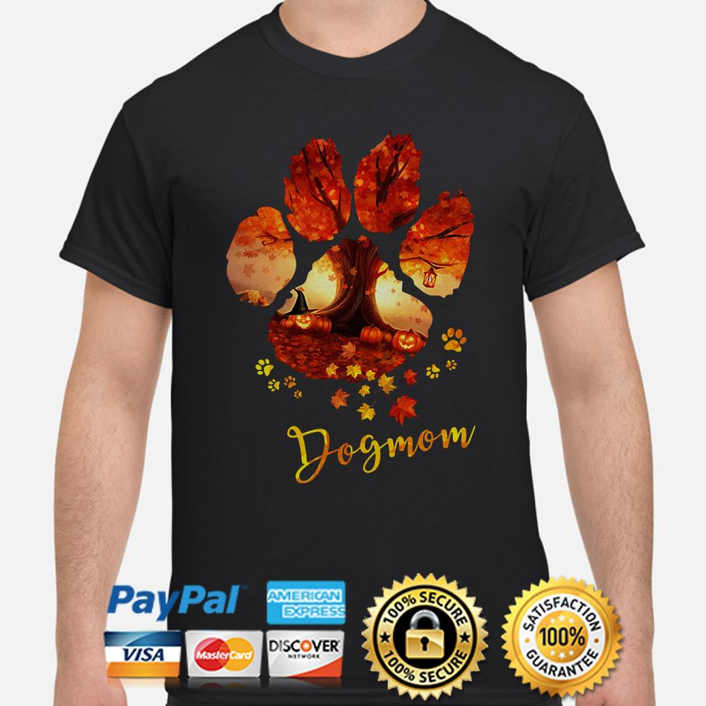 Maple Tree and Pumpkin Paw Dog Mom shirt