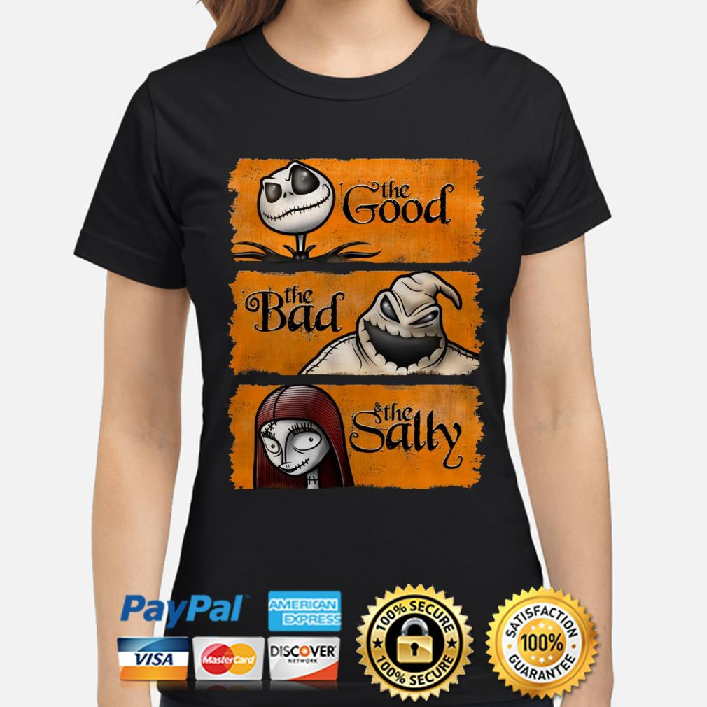 Nightmare Before Christmas the good the bad the sally ladies shirt