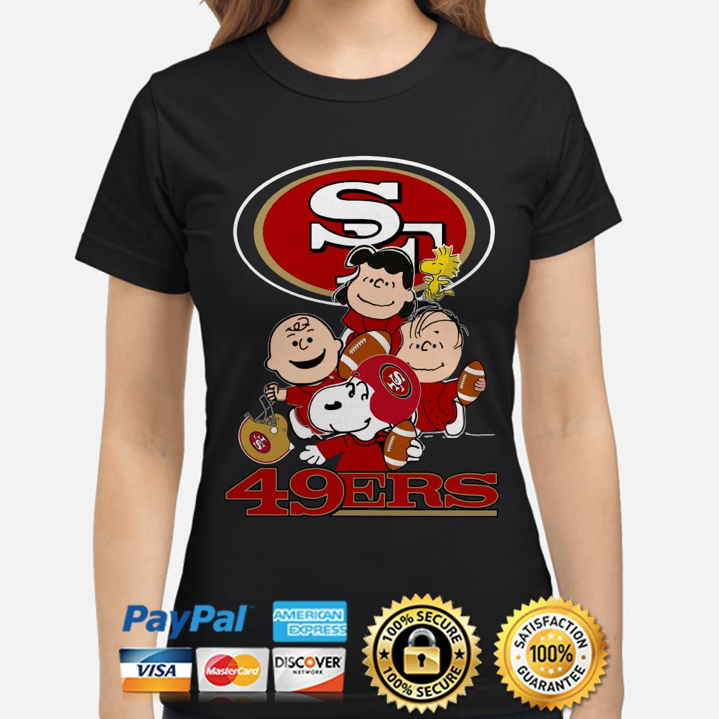 Peanut characters San Francisco 49ers ladies shirt