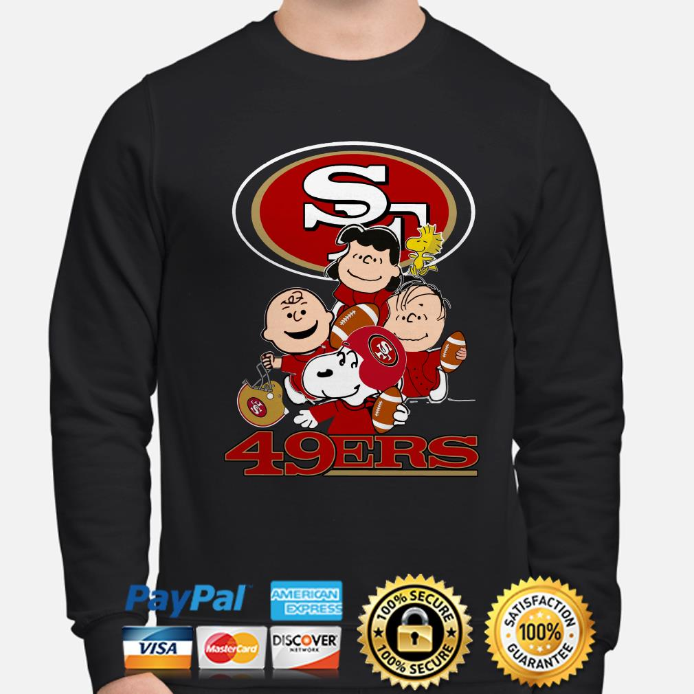 Peanut characters San Francisco 49ers sweater