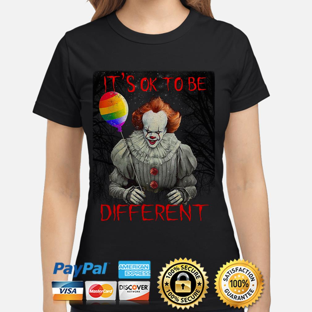Pennywise IT's ok to be different LGBT ladies shirt