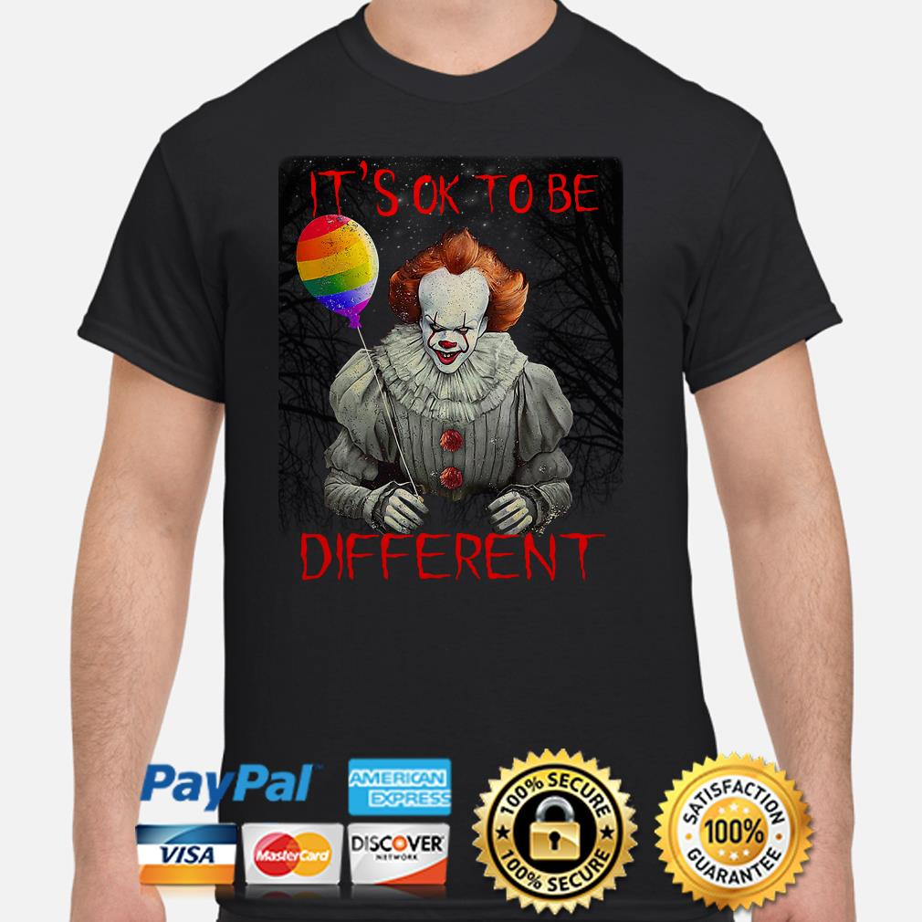 Pennywise IT's ok to be different LGBT shirt