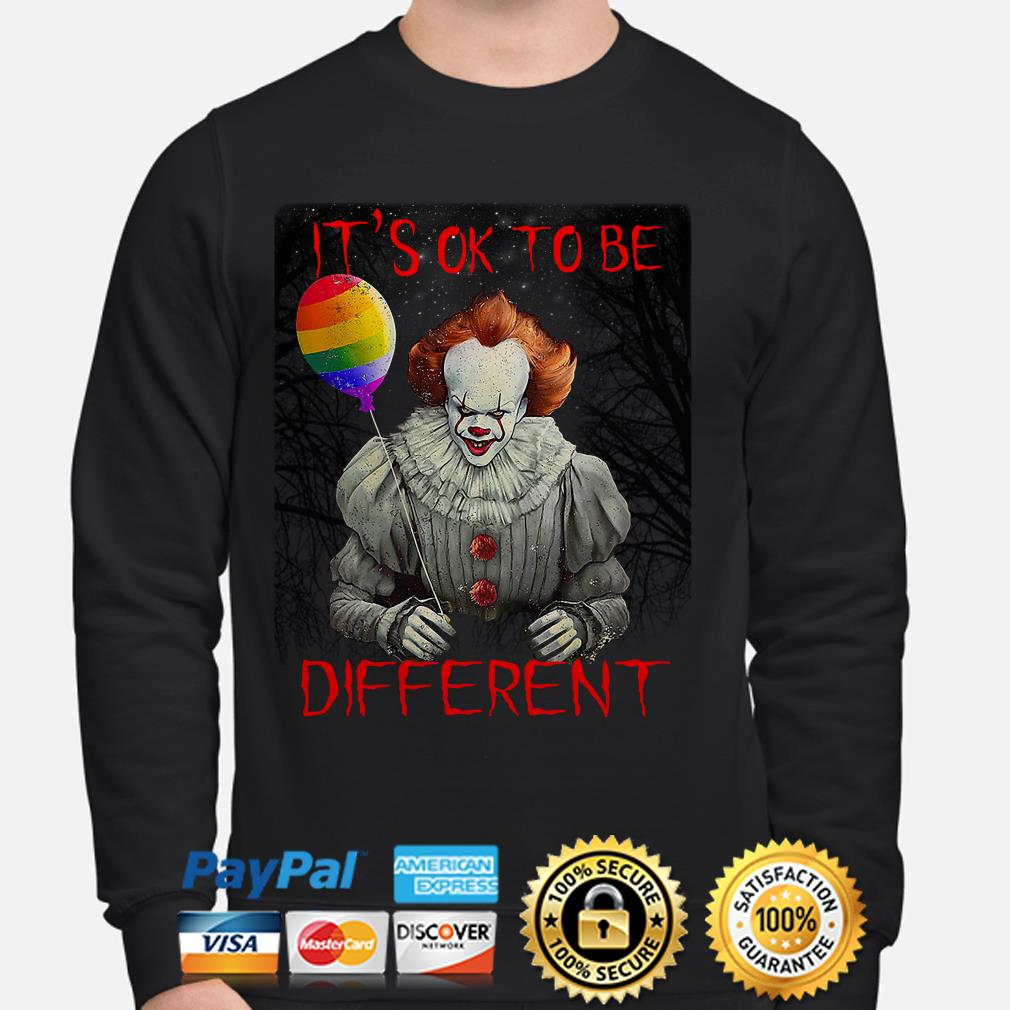 Pennywise IT's ok to be different LGBT sweater