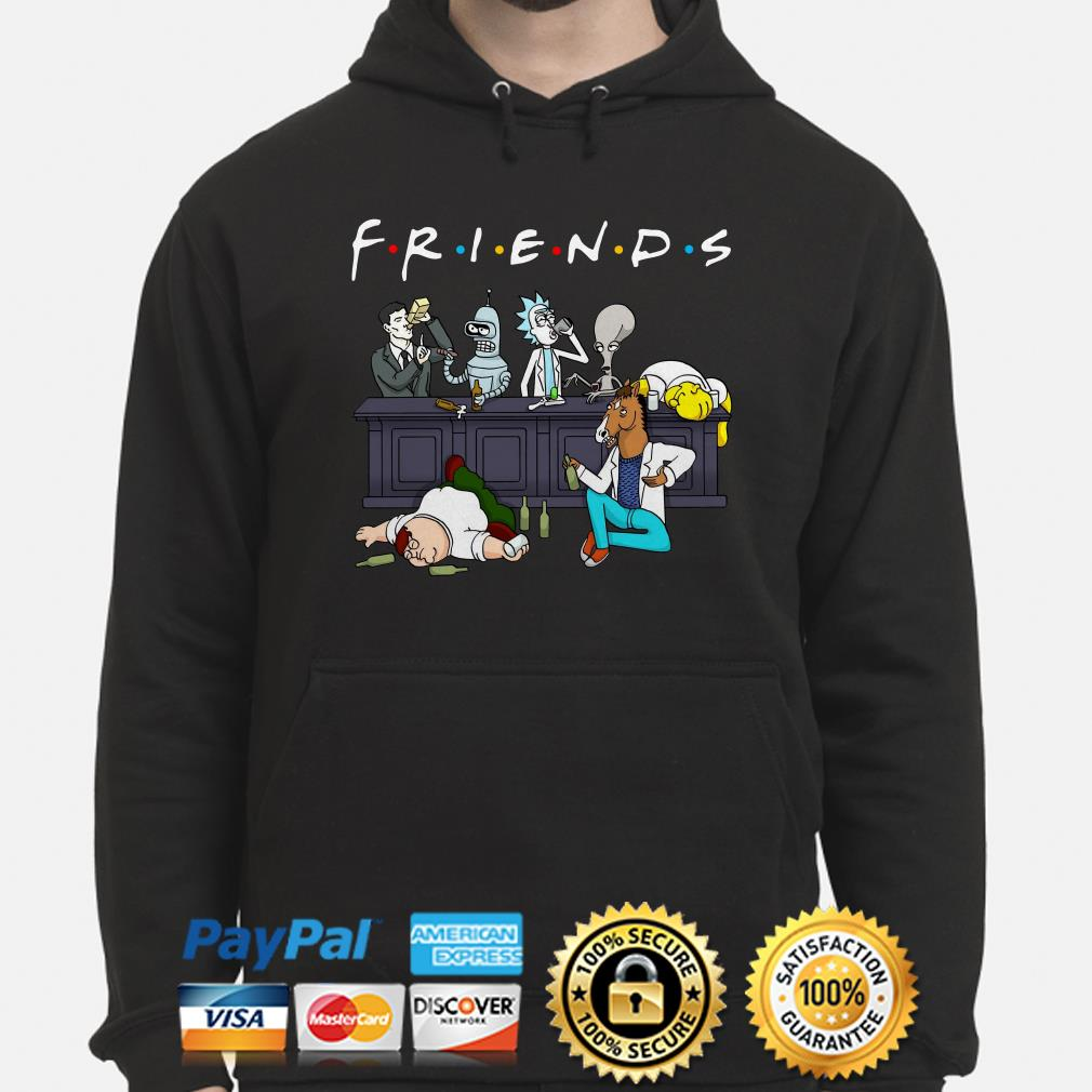 Rick and Morty Pete and Roger drinking buddies Friends hoodie