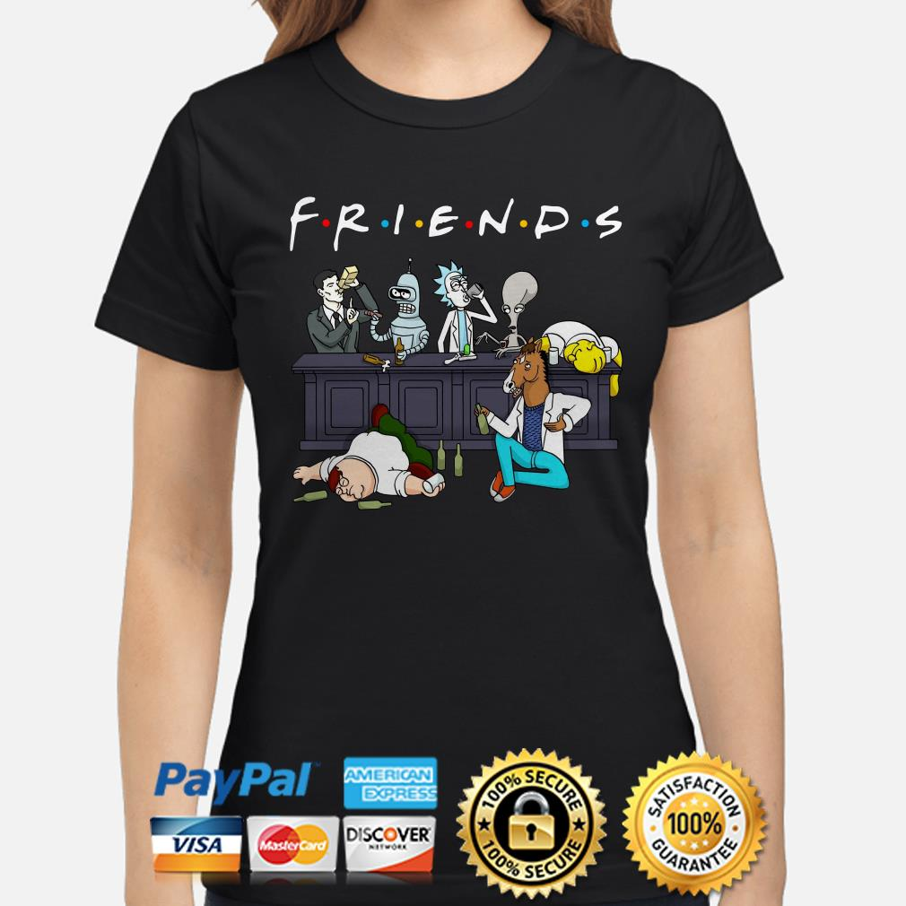 Rick and Morty Pete and Roger drinking buddies Friends ladies shirt