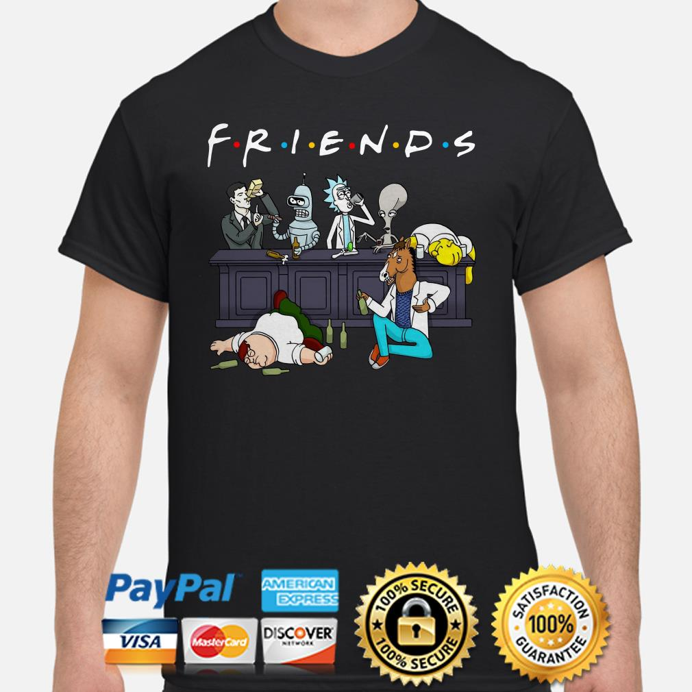Rick and Morty Pete and Roger drinking buddies Friends shirt