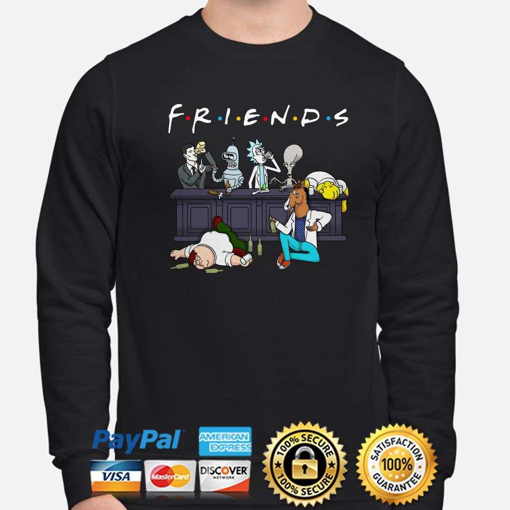Rick and Morty Pete and Roger drinking buddies Friends sweater