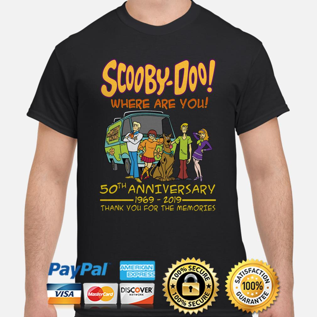 Scooby-Doo 50th Anniversary thank you for the memories shirt