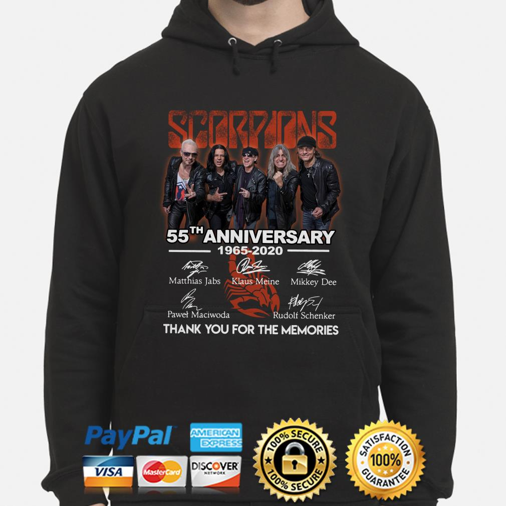 Scorpions 55th Anniversary thank you for the memories hoodie