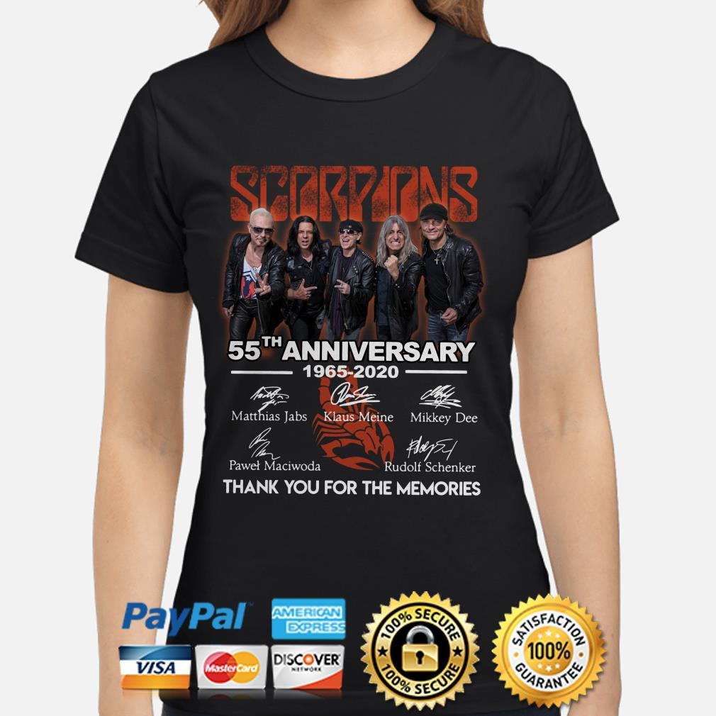 Scorpions 55th Anniversary thank you for the memories ladies shirt