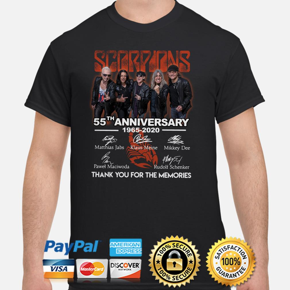 Scorpions 55th Anniversary thank you for the memories shirt
