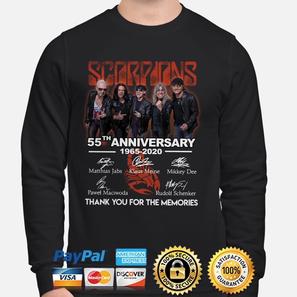 Scorpions 55th Anniversary thank you for the memories sweater