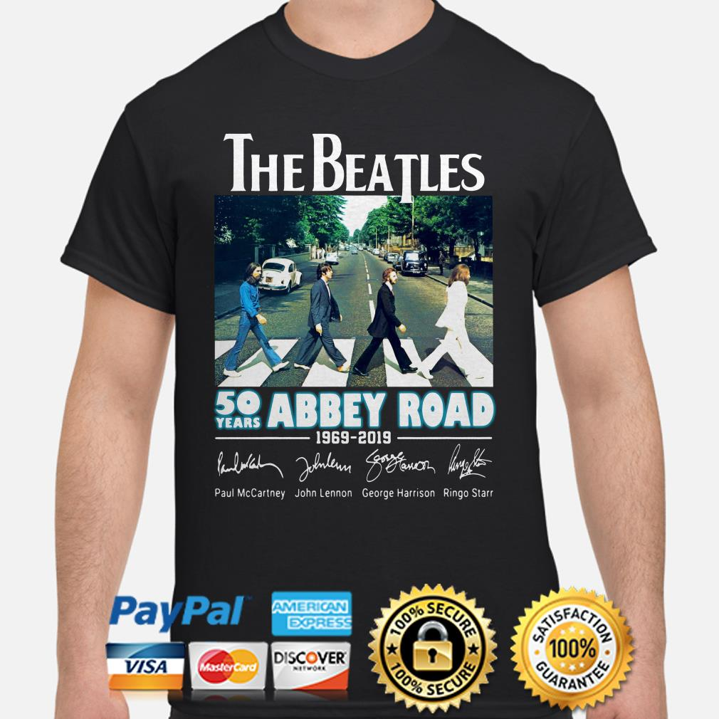The Beatles 50 years Abbey road signature shirt