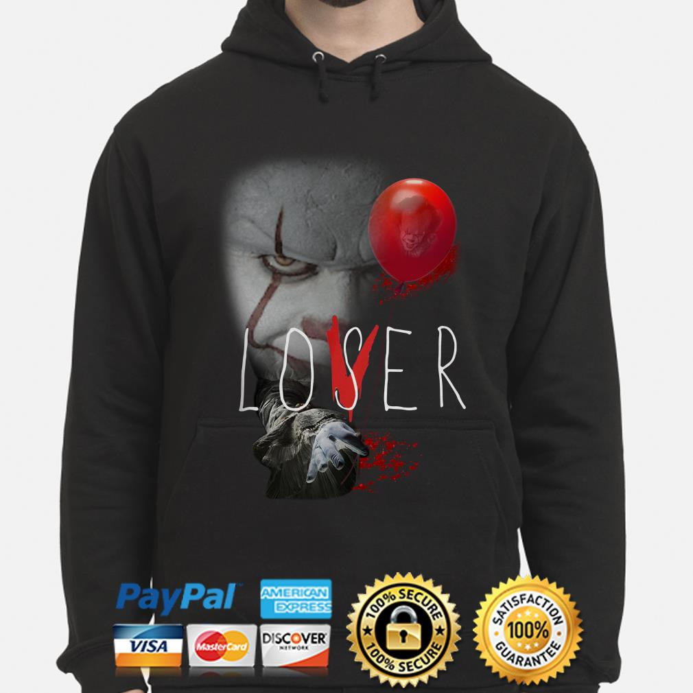 The IT Pennywise Lover Loser hoodie