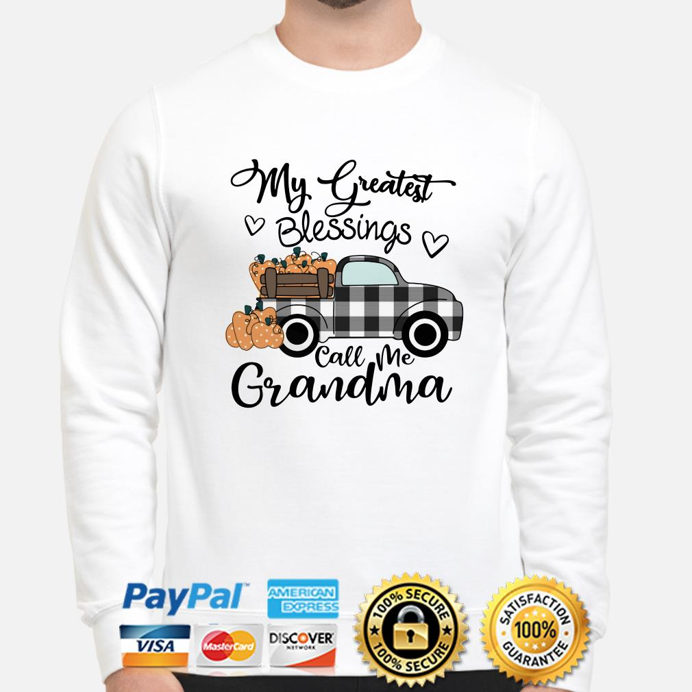 Truck my greatest blessings call me Grandma sweater