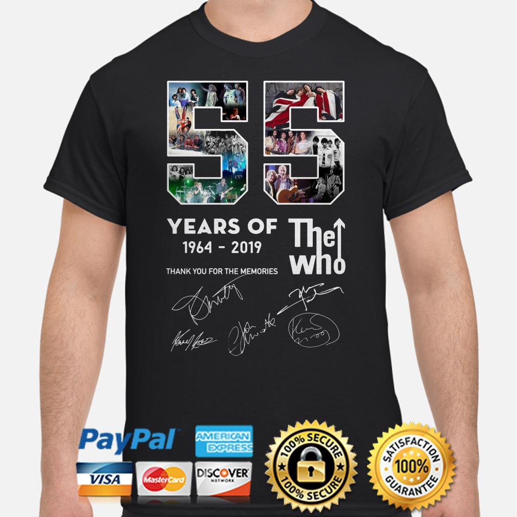 55 years of The Who thank you for the memories signature shirt