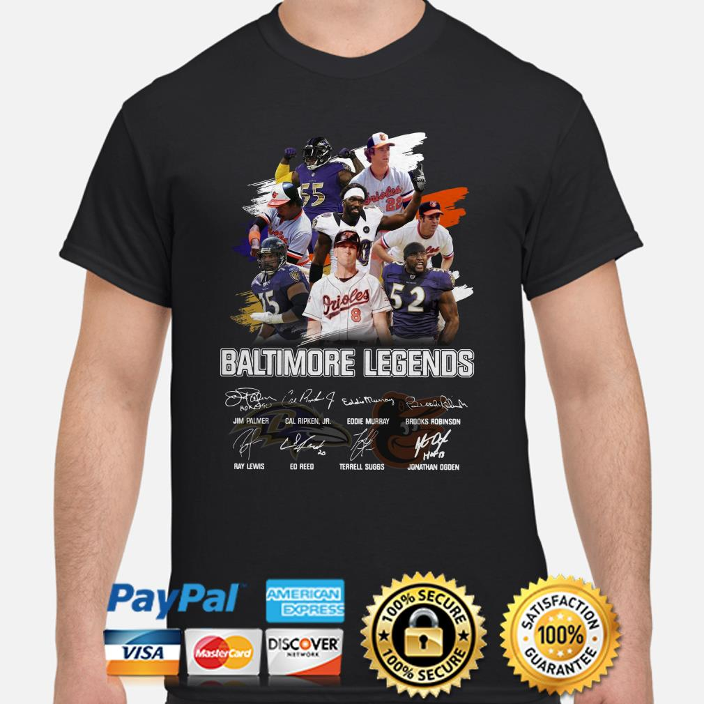 Bantimore Sports Legends signature shirt