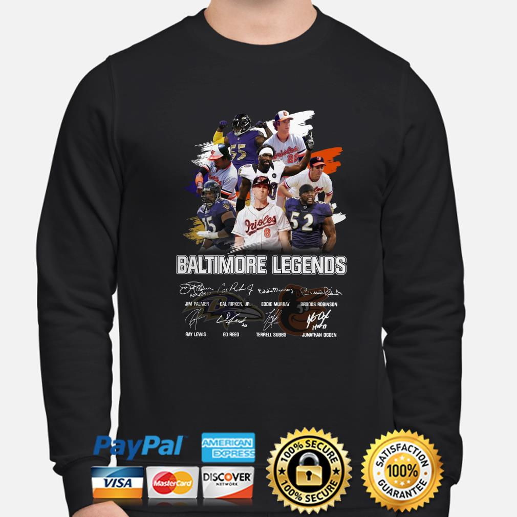 Bantimore Sports Legends signature sweater