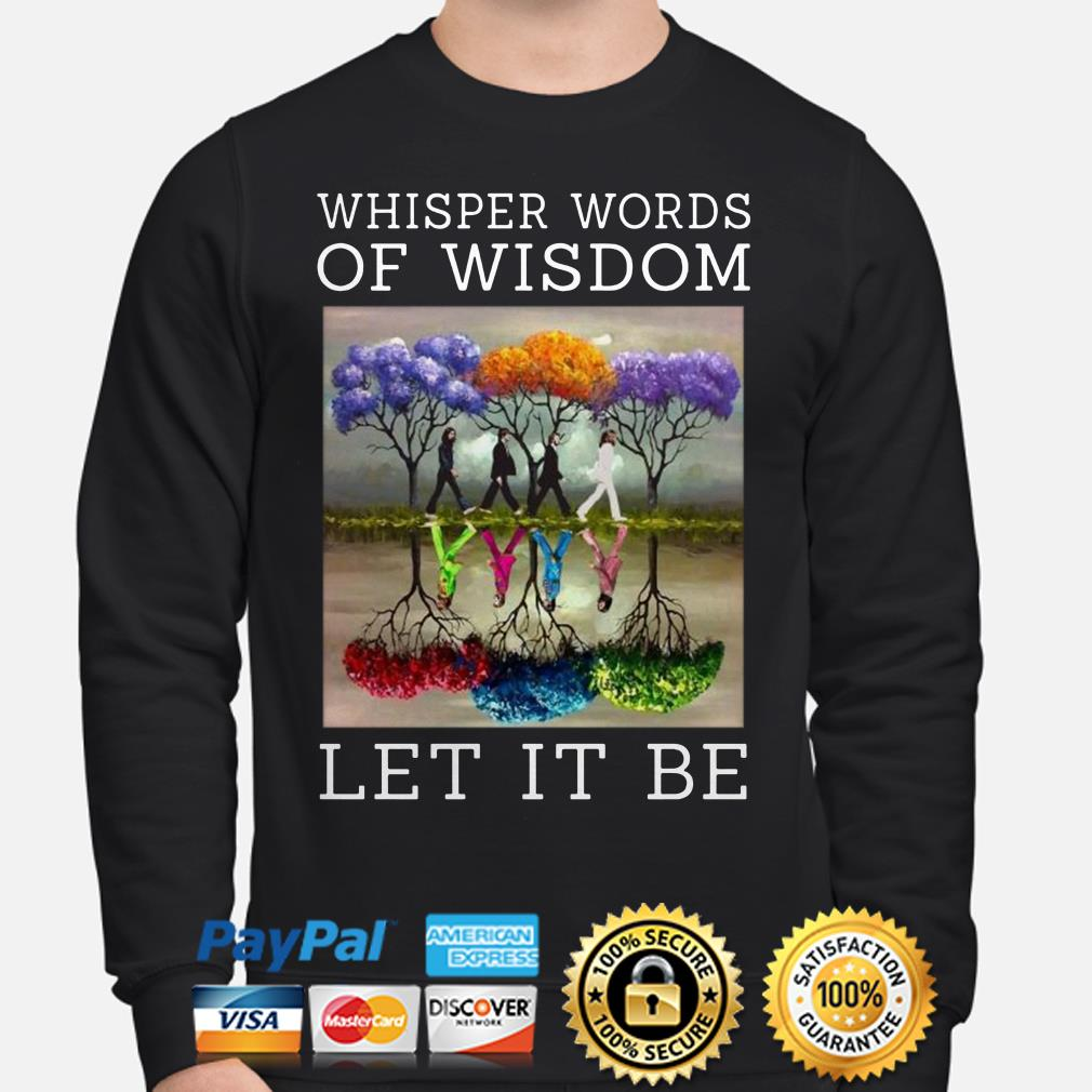 The Beatles Abbey Road whisper words of Wisdom Let it be sweater